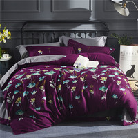 IvaRose American Style 4 Pcs Queen King Size Comforter Set Thick Cotton Bedding Set High Quality