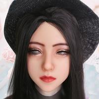 (Aliva)Crossdress Soft Silicone Realistic Female Face Sweet Girl Full Head Eyung Mask Crossdresser DOLL Mask