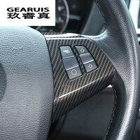 Автомобильный Стайлинг для BMW X5 E70 автомобильный внутренний руль кнопки рамка наклейки Чехлы отделка углеродное волокно интерьер авто аксе...
