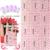 2015 NUEVO 90 Unids/lote TJ001-024White Oro Con Estilo Calcomanía etiqueta engomada del clavo 3D flor del gancho de uñas fototerapia Blanco estampado en caliente