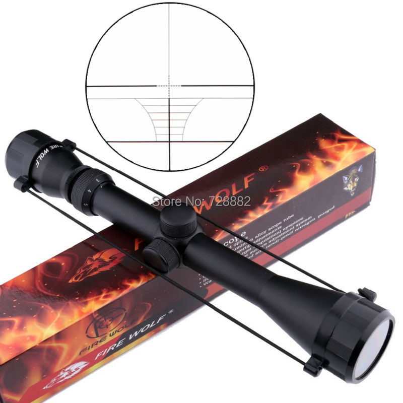 FireWolf 3-9x40 Riflescope Green Reticle Sight Optics Rifle Scopes 1 Tube Tactical Hunting Scope Free Shipping sniper 3 9x40e tactical hunting riflescope rifle scope outdoor wire reticle sight optics scopes with 11mm or 20 mm rings