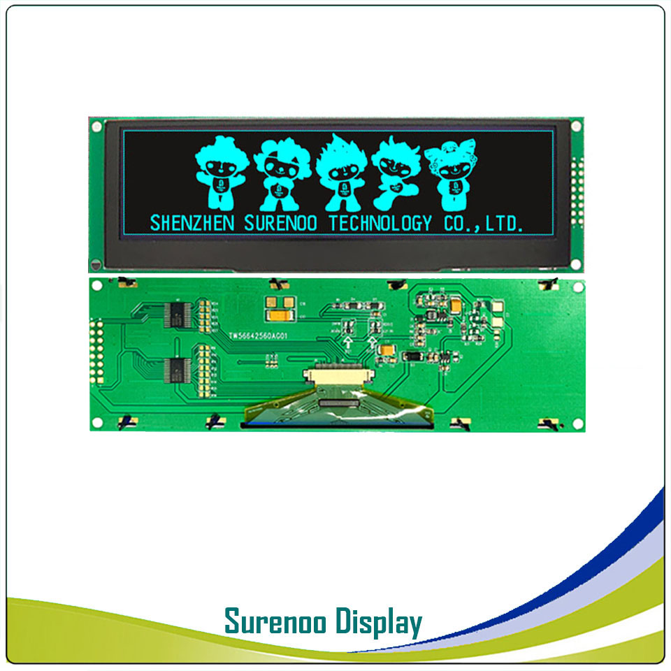 """Image 4 - Real OLED Display, 5.5"""" 256*64 25664 Graphic LCD Module Display Screen LCM Screen Build in SSD1322, 6080 8080 Parallel Seral SPI-in LCD Modules from Electronic Components & Supplies"""