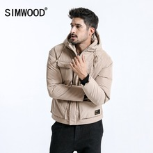 SIMWOOD 2018 Winter New Puffer Jacket Men Print Hooded Coats Male High Quality Plus Size Brand
