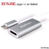 ZunJie USB 3 1 Type C To HDMI AV Cable Adapter Converter USB C Male To