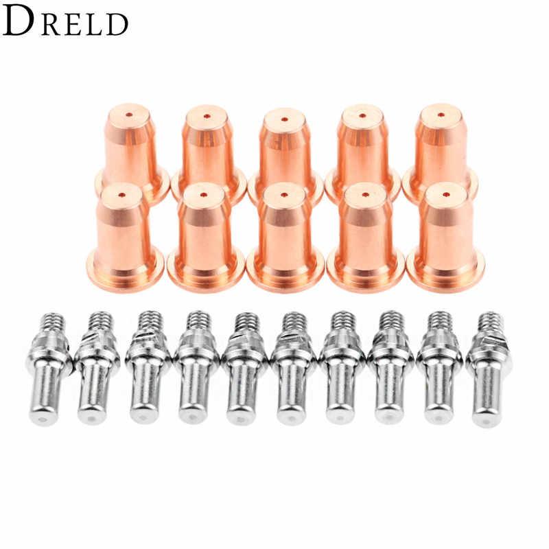 DRELD 20 cái/bộ Điện Cực 52582 + Vòi Phun 51313 cho PT60 IPT-60 Plasma Cắt Torch Tiêu Hao Thay Thế Bộ Phận Tiêu Hao