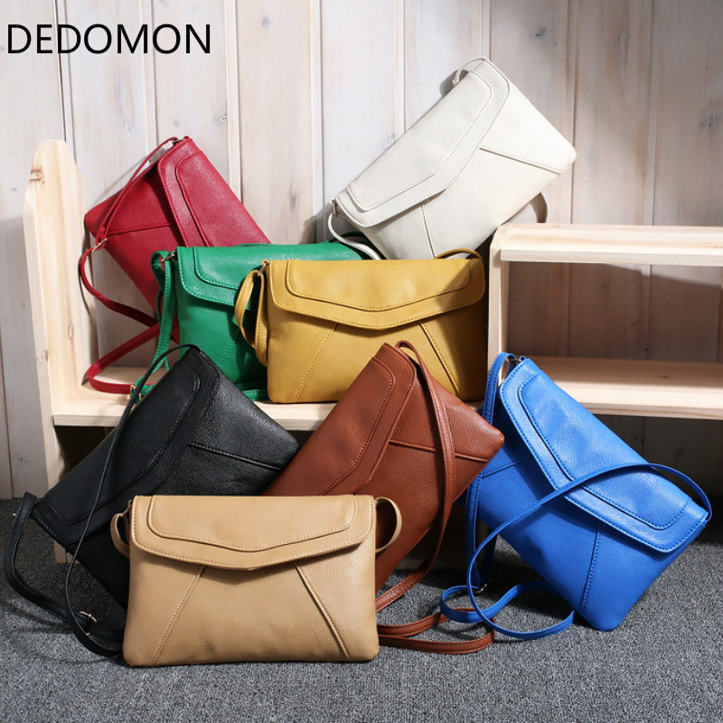 2018 New Women Messenger Bag Female Package Small Sweet Wind One Shoulder Han Edition Fashion 8 Color Vintage Leather Handbags