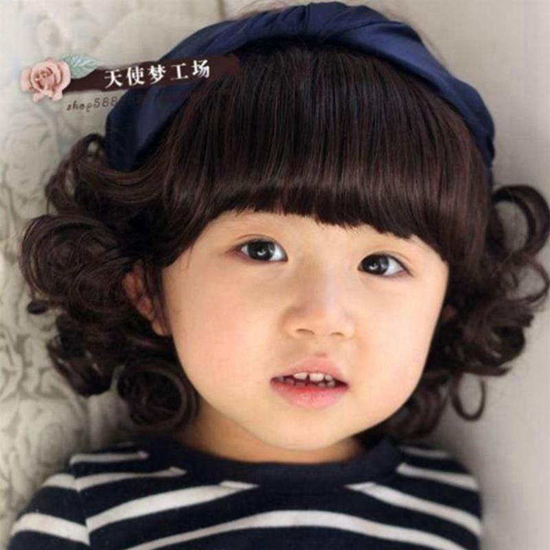 2015 Baby Girlboy Curly Wigs Cute Short Haircuts Wig For Kid Deti