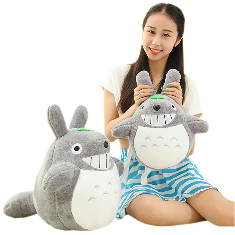 50cm Huge <font><b>Lovely</b></font> Plush Toy/My Neighbor Totoro Plush Toy Cute Soft <font><b>Doll</b></font> Totoro Holding Lotus Leaf Kids Toys