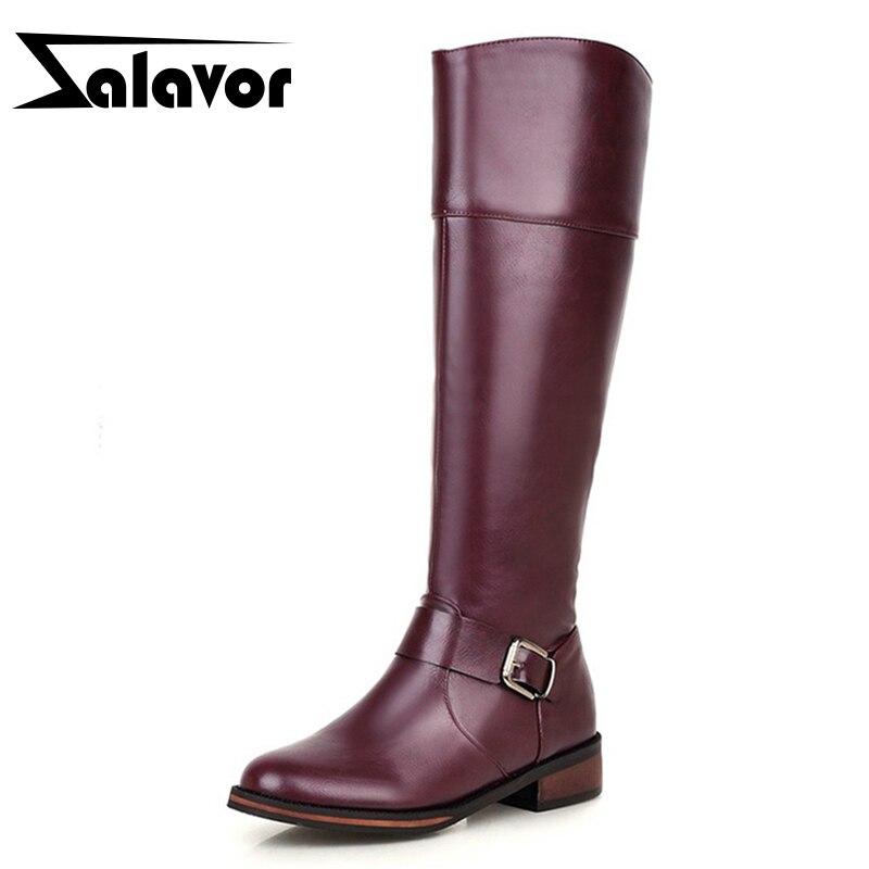 ZALAVOR Warm Shoes Women Thick Fur Inside Knee Boots Women Gladiator Winter Fashion Botas Woman Knight