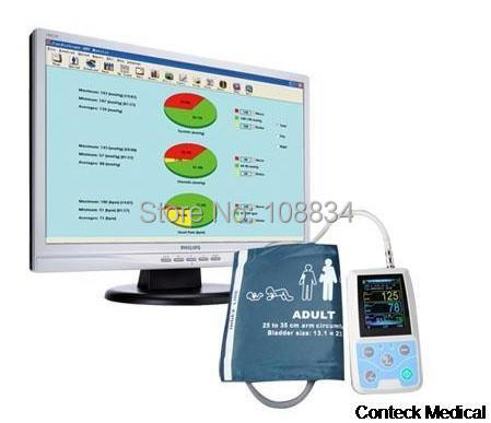 Ditigal ARM Color LCD Ambulatory Blood Pressure Monitor with USB Software 24h NIBP holter NIBP Monitor CE&FDA ON SALE цена