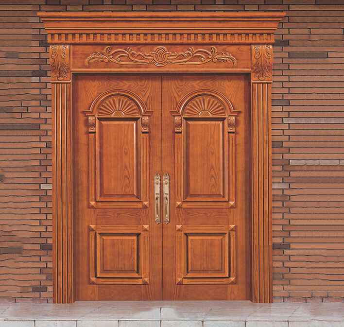 Solid wood door entry door main door 22 in doors from home for Indian main door