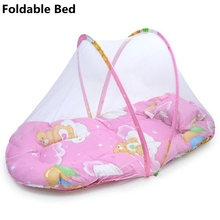 Baby Crib Bed Netting Children Beds Infant Nest Portable Travel Folding Cribs Toddler Mosquito Net Cradle Foldable Sleep Cushion(China)