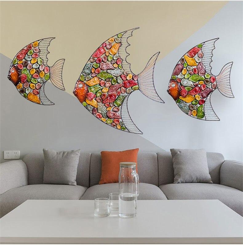 Aliexpress.com : Buy European creative wall decorations Iron fish ...