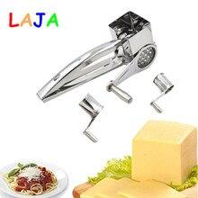 3 Fässer/Eingestellt Dreh Käsereibe Edelstahl Käsehobel Küche Käse Butter Cutter Für Kuchen Schokolade Fondue CF0004