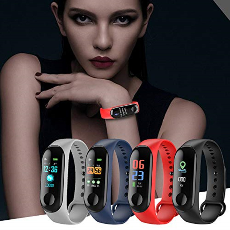 M3 Smart Wristband Long Standby time 0.78 inch OLED Touch Display Vibration Alarm Calories burned measuring Sedentary reminder