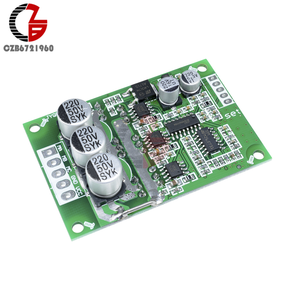 DC Motor Controller Board 500W 12V DC Brushless Motor PWM Speed Control Regulator BLDC Motor Driver Board DC 12V-36V dc 12v 24v 36v 2 way pwm motor driver board module 450w high power controller