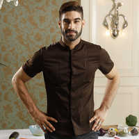 Summer Short Sleeved Bakery Restaurant chef Uniform washable and breathable classic stand collar cafe uniform