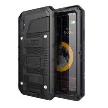 Coque de téléphone étanche en métal résistant aux chocs IP68 pour iPhone X XS XR XS MAX 8 7 6 6 S Plus 5 5 S SE Protection de la vie