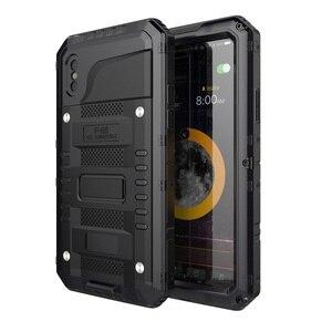 Image 1 - Coque de téléphone étanche en métal résistant aux chocs IP68 pour iPhone X XS XR XS MAX 8 7 6 6 S Plus 5 5 S SE Protection de la vie