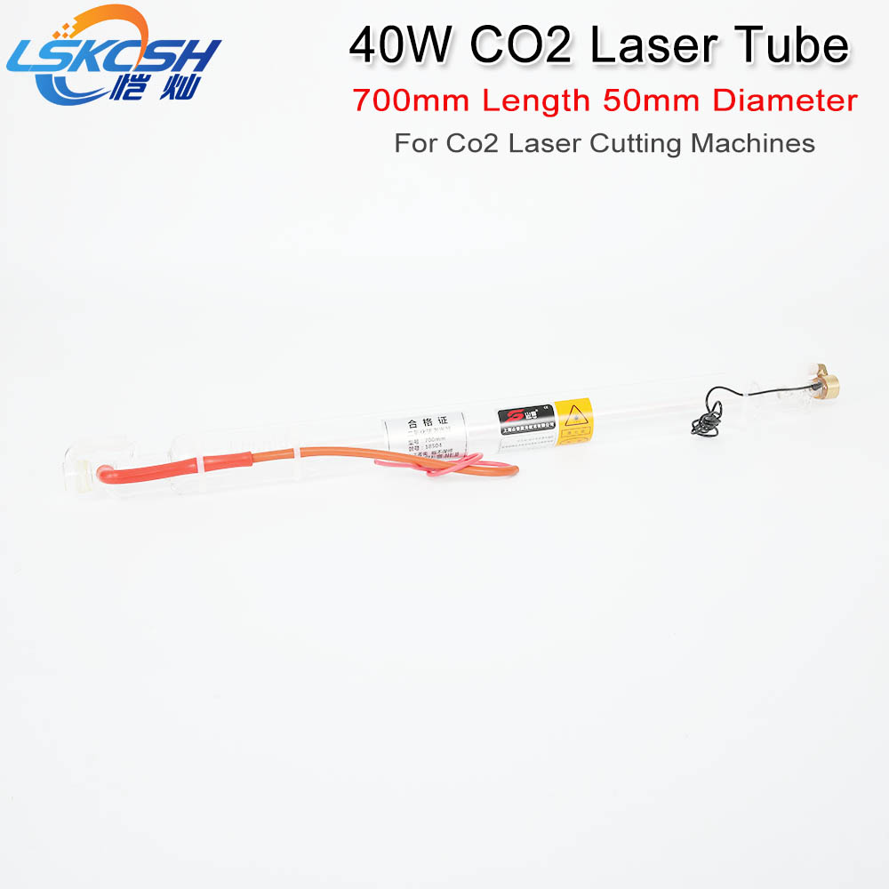 LSKCSH Co2 Laser Tube 700MM 40W Glass Laser Lamp for CO2 Laser stamp Engraving Cutting Machine Laser tube factory wholesale