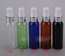 30ml 50ml 100ml 120ml clear High Quality Refillable Plastic Perfume Make Up Transparent Small Empty Spray Bottle with silver lid