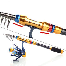 Hot Sale 2.7M 99% Carbon Telescopic Fishing Rod + 3000 Series 10+1 BB Spinning Fishing Reel Fishing Tackle Set Kit