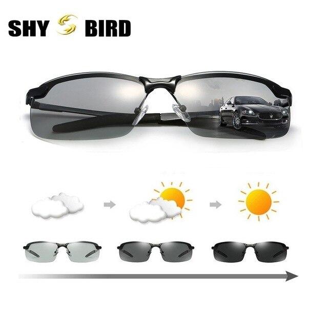 0e9e1b580269a 2018 nova Driving Photochromic Óculos De Sol Dos Homens Polarizados  Chameleon Descoloração óculos de Sol para