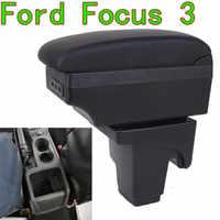 Pour Ford Focus 3 accoudoir boîte 2013 2014 FORD concentre 3 accessoires de voiture intérieur boîte de rangement Original accoudoir rechargeable usb