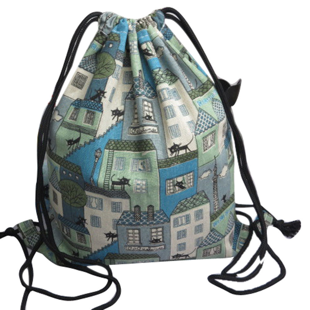 Drawstring Bag Cute Unisex Backpacks Retro Printing Bags Drawstring Backpack Women Cute 3D Crazy Head Printed Drawstrings Bags