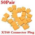 50 пара мужчина / женщина прочный XT60 разъем для аккумулятор важно зажигания