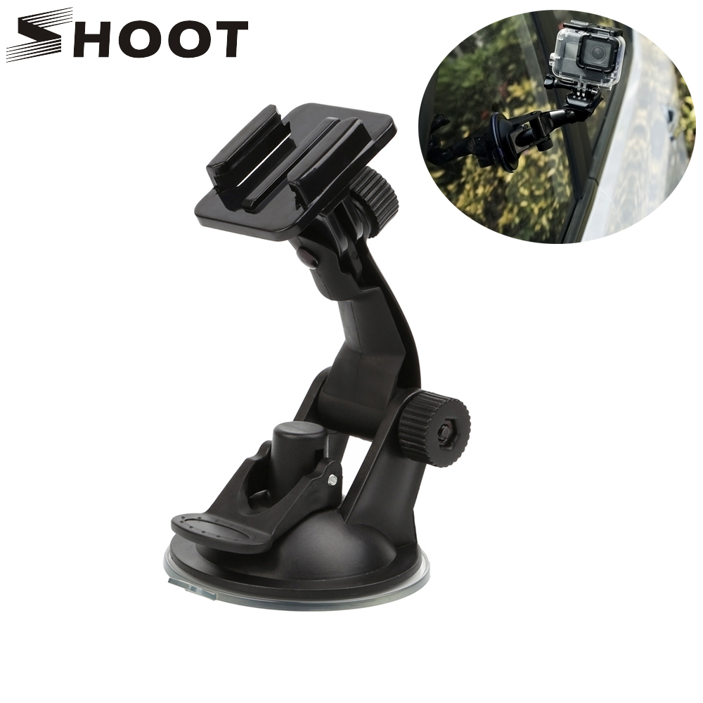 SHOOT 7CM Car Windshield Suction Cup For GoPro Hero 5 6 3 4 Session SJCAM SJ4000 SJ5000 h9 Yi 4K Camera With Mount for Go Pro 6 3 suction cup car adapter holder for gopro hero 3 3 2 1 sj4000