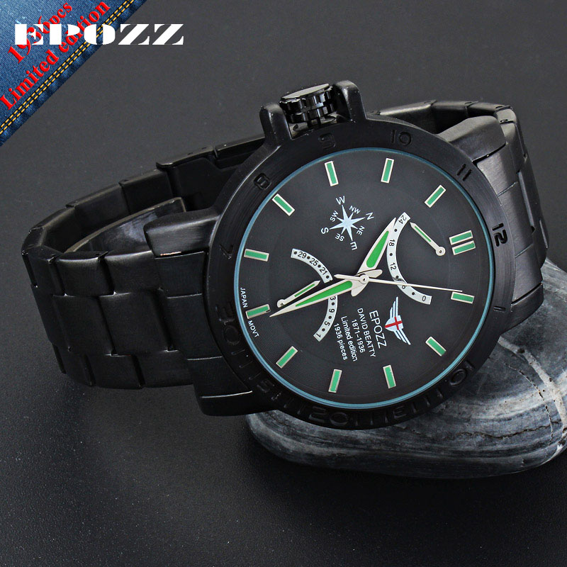 EPOZZ Brand new quartz watch for men big dial waterproof stainless steel watches classic casual top fashion luxury clock 1602 epozz brand new quartz watch for men big dial waterproof stainless steel watches classic casual top fashion luxury clock 1602