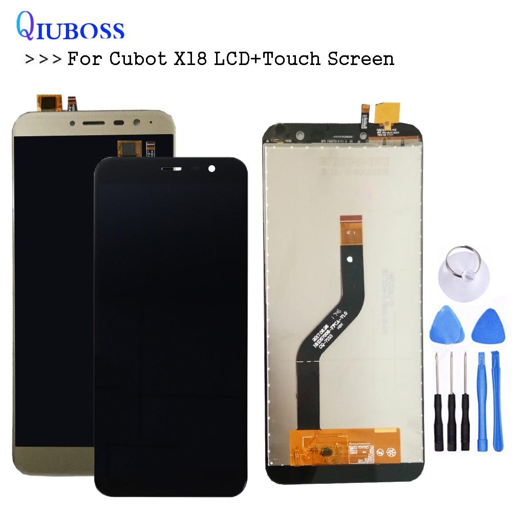 Provato Bene Per Cubot X18 LCD Display + Touch Screen Panel Digitizer Parti di Ricambio Assemblea 5.7 pollice 720*1440 + strumenti