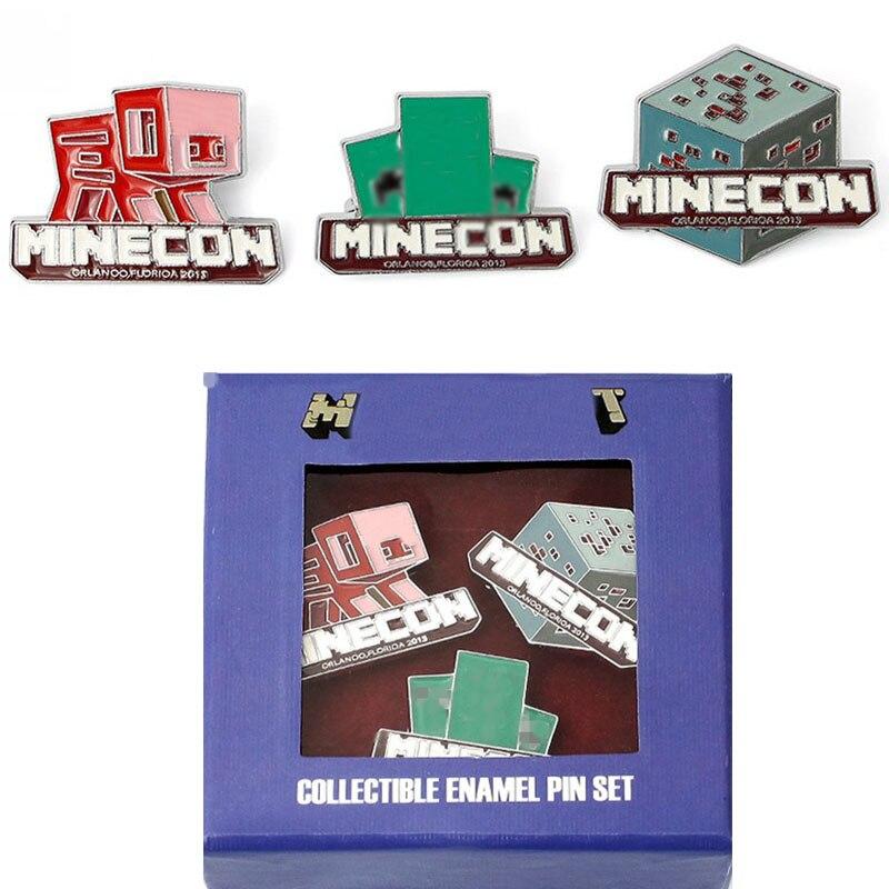 Новый мультфильм игры фигурку игрушки Minecrafted (камень, свинья, рептилия) серии значок фигурки для Детский подарок 3 шт./компл. игрушки