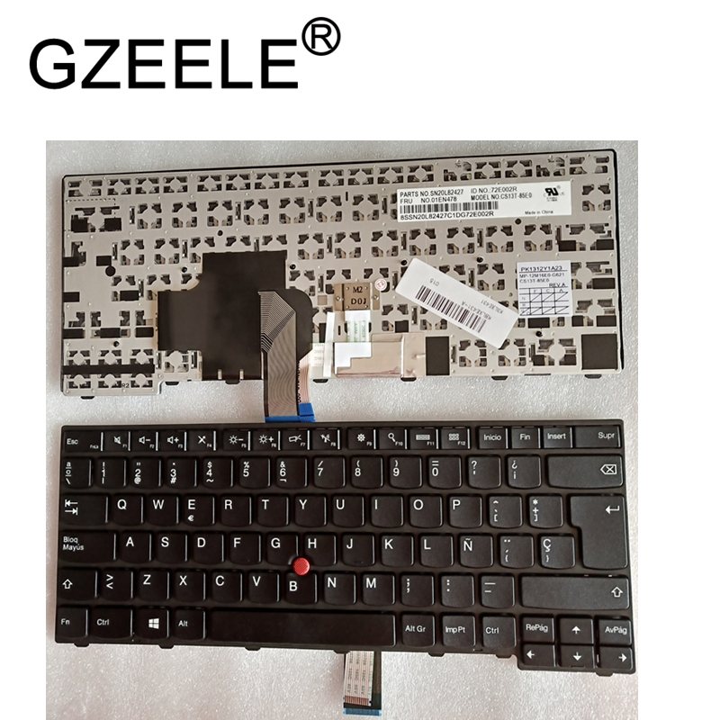 GZEELE New for IBM FOR Thinkpad T440 T440P T440s T431 E431 L440 SP Keyboard 04Y872 Teclado Laptop / Notebook QWERTY Spanish GZEELE New for IBM FOR Thinkpad T440 T440P T440s T431 E431 L440 SP Keyboard 04Y872 Teclado Laptop / Notebook QWERTY Spanish