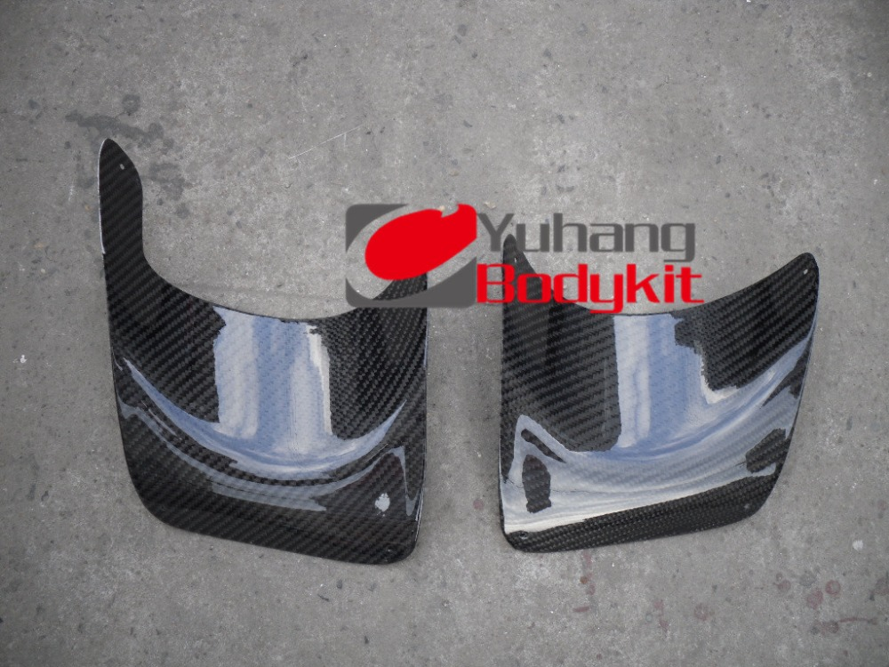 For Mitsubishi Evolution EVO 10 X 2pcs Carbon Rear Bumper Exhaust Heat Shield