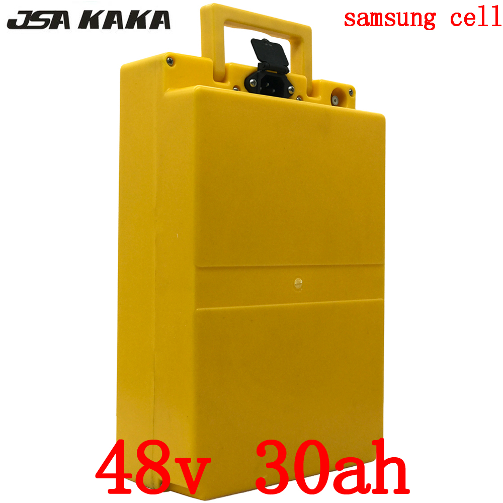 Free customs taxes  48V 30AH Electric Bicycle Battery 48V 1000W Lithium Battery 48V 30AH E-bike battery use for Samsung cell
