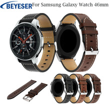 22mm Leather Watchband For Samsung Galaxy Watch 46mm Band Sport Strap Bands Men Women