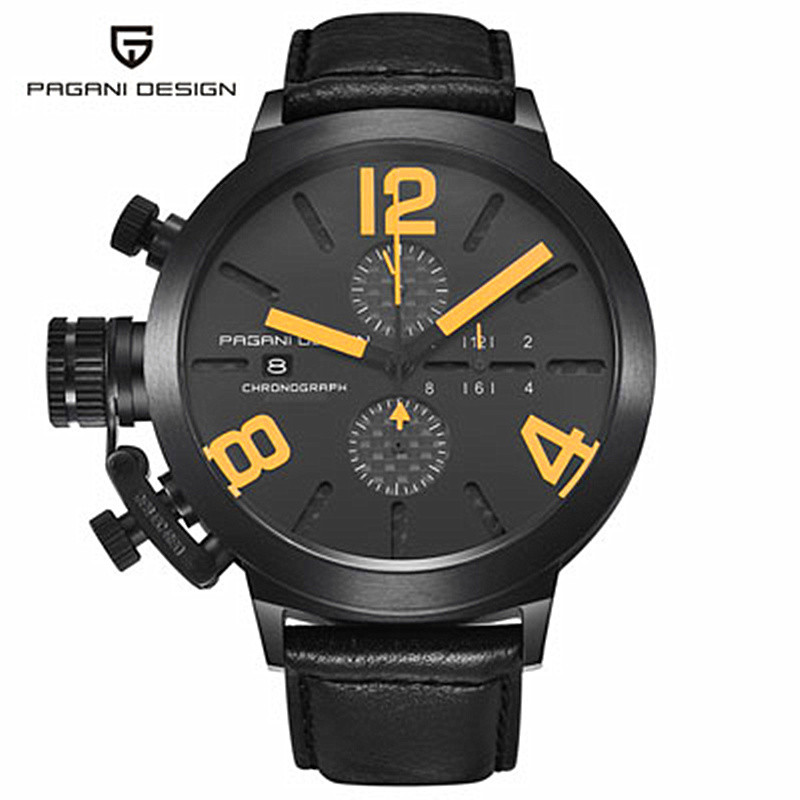 ФОТО 2016 Watches Men Luxury Brand Sport Watch Dive 30m Military Watches Multifunction Quartz Wristwatch Pagani Design reloj hombre