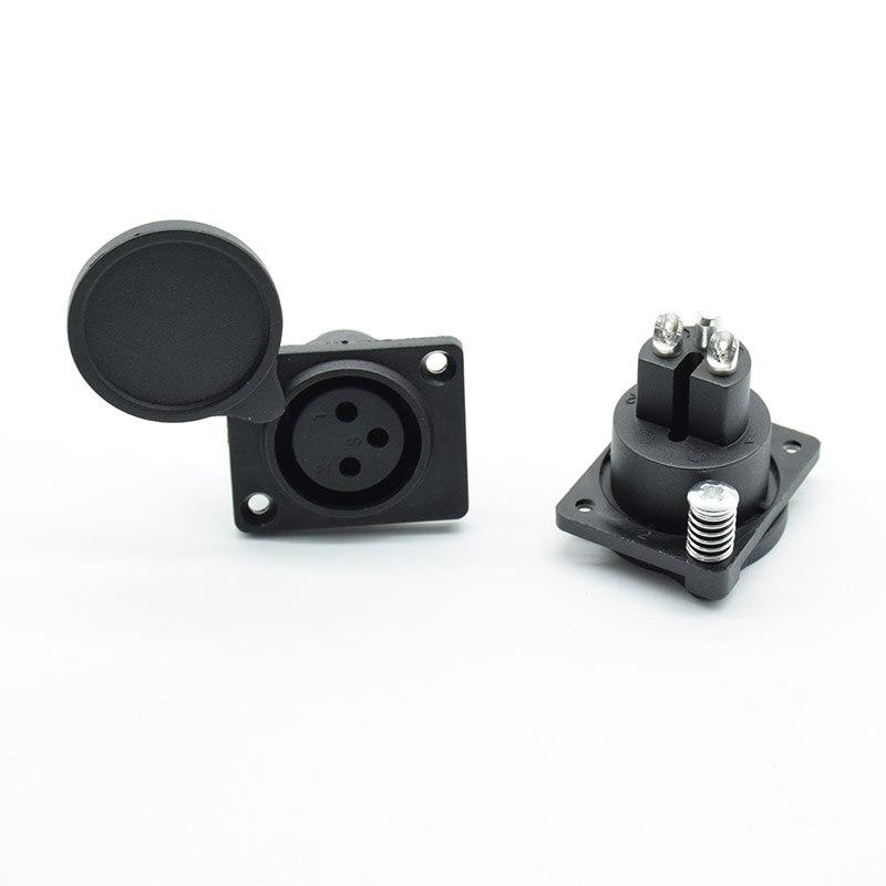 1 шт. XLR 3 Pin водонепроницаемый женский корпус панель монтируемая розетка адаптер Пайка для питания MIC Разъем черный