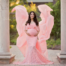 Maternity Photography Props Maxi Gown Cotton Pregnant Dress Fancy Photo Shooting New Style