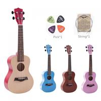 23 Inch Colorful Ukulele Hawaii Four String Guitar Ukelele + String + Pick Suitable for Both Beginners and Children