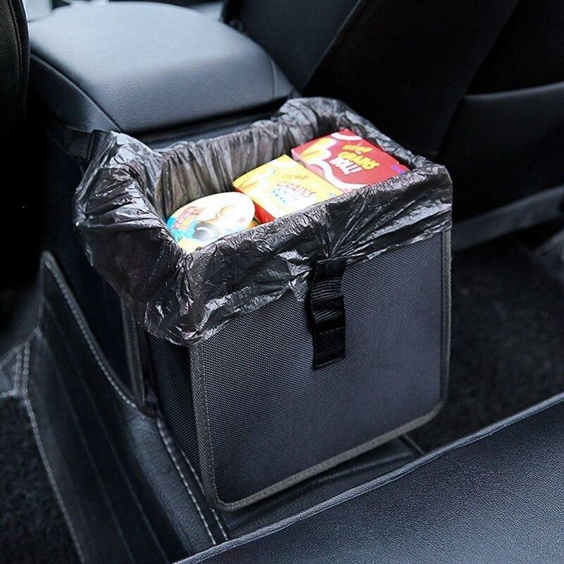 Hanging Car Trash Bag Can Premium Waterproof Litter Garbage Bag Organizer 185 Gallon Capacity Black Dustbin Storage Holder