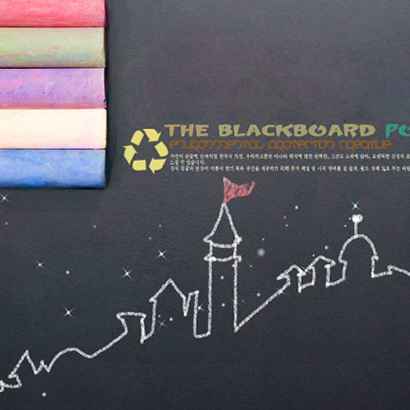 waterproof DIY blackboard sticker with 5 PCS chalk