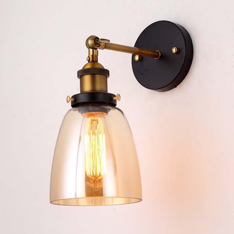 Старовинні стіни світло скляні настінні лампи 110V 220V спальні настінні лампи для їдальні вітальні
