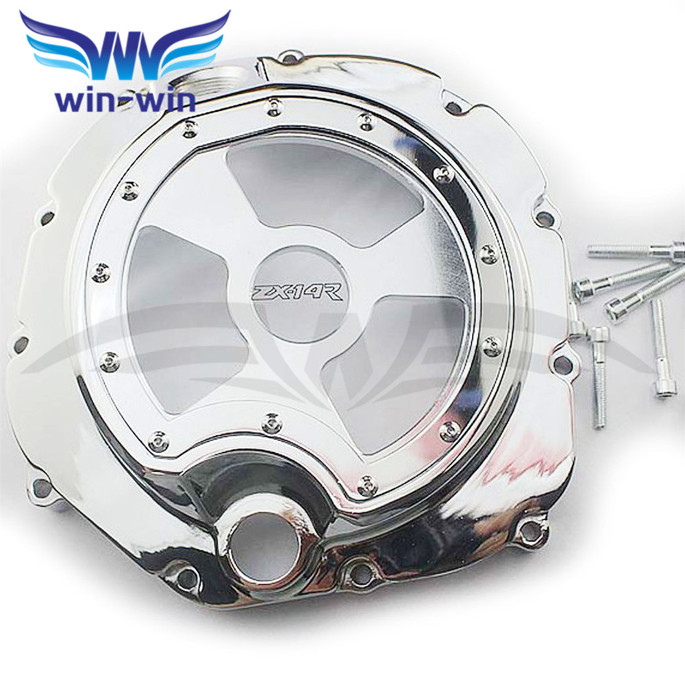 Chrome  motorcycle  engine stator cover  crank case cover  For KAWASAKI ZX-14R ZZR1400 2006 2007 2008 2009 2010 2011 2012 2013