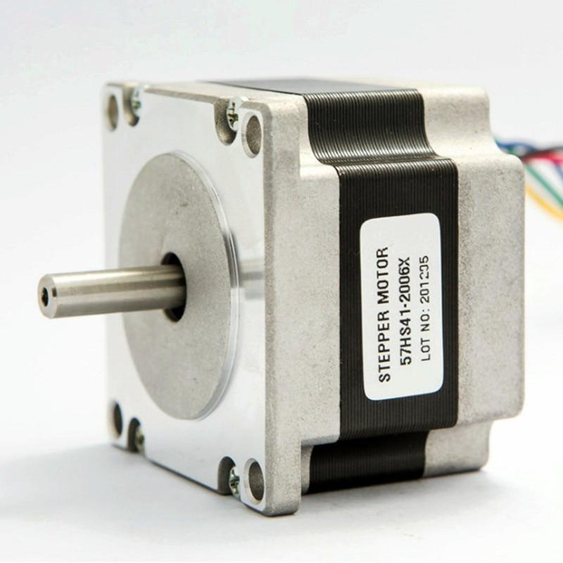 Nema 23 Stepper Motor 57HS41 2006 0.39N.m 2A Nema 23 motor 112mm 56 Oz in for 3D printer for CNC engraving milling machine
