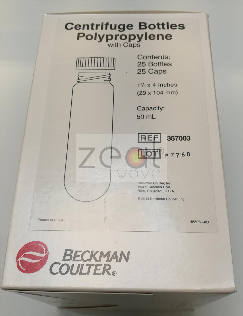 FOR Beckman Coulter Item No. 357003 50 mL Centrifugal bottle with sealing capFOR Beckman Coulter Item No. 357003 50 mL Centrifugal bottle with sealing cap