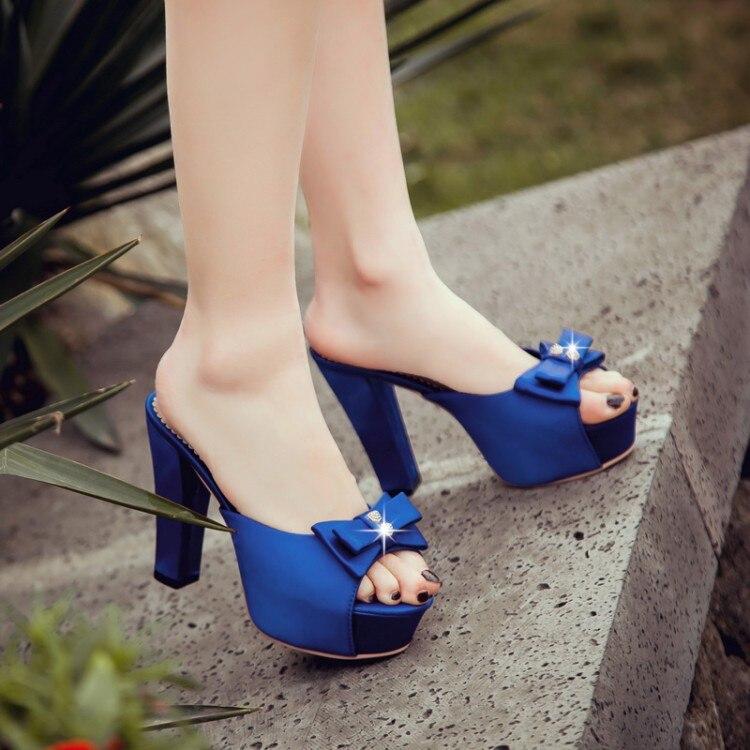 Chaussures D'été Feminino 16 Plage Sandales Grande rouge Gladiateur Maison Pantoufles Femmes Mode Casual 1 Noir bleu Sapato Style Taille 2017 pqwnBvBz