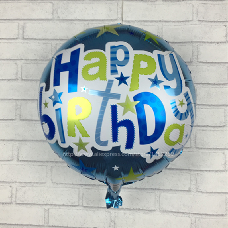 XXPWJ Free shipping 5pcs-lots of new films rounded Happy Birthday balloons party
